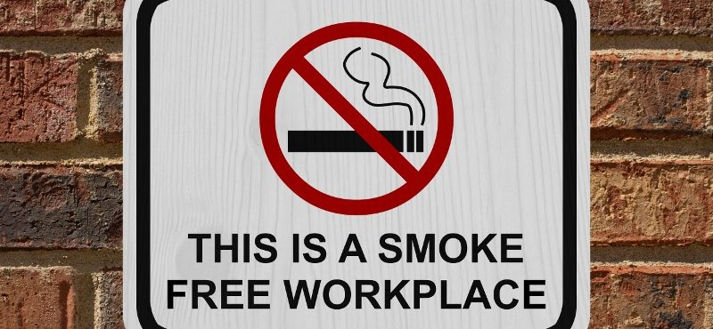 Smoke free workplace sign